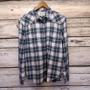 Lucky Brand Mateo Western Pearl Snap Plaid Shirt